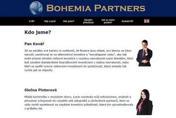 ČNB varuje před investiční společností Bohemia Partners