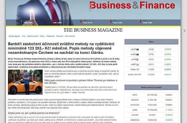 Pozor na podvod Milana Thomase a Business Magazine