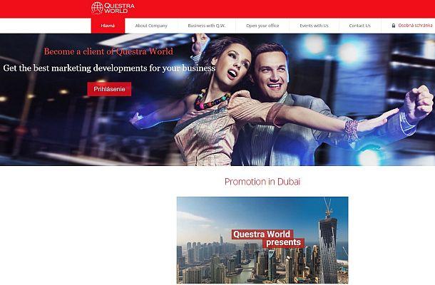 ČNB upozorňuje na Questra World a Atlantic Global Asset Management