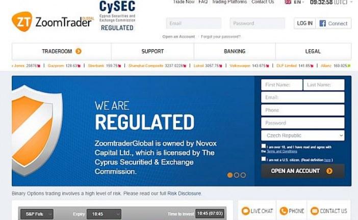 Novox Capital dostal pokutu kvůli brokerovi ZoomTrader