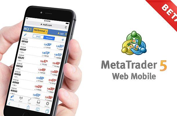 Webový Metatrader 5 dostal mobilní verzi