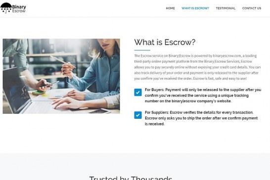 FCA varuje před Binary Escrow