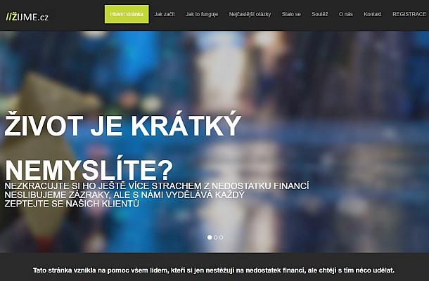 Žijme.cz je podvod neexistující firmy