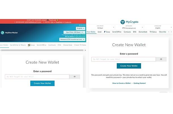 Populární peněženka MyEtherWallet má klon MyCrypto
