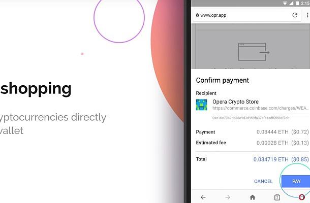 Opera integrovala do svého mobilního prohlížeče peněženku na kryptoměny