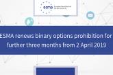 ESMA prodloužila zákaz obchodování binárních opcí