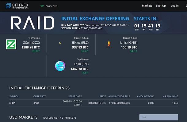 Bittrex připravil první Initial Exchange Offering, o co se jedná?