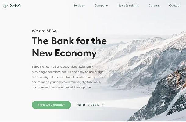 Švýcarská krypto banka SEBA se otevřela veřejnosti
