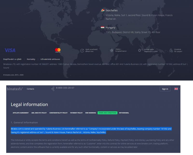 Binatex info