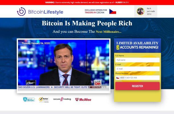 Bitcoin Lifestyle je velký podvod, pozor na něj