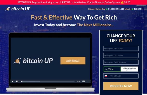 Pozor na podvody Bitcoin Up a Bitcoin Union